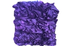 Purple Ruffle Cushion (Purple 12 x 16 x 5)