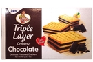 Triple Layers Crackers (Chocolate Cream Flavor) - 5.7oz [ 6 units]
