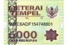 Buy NA Meterai Tempel - 6000 Rupiah