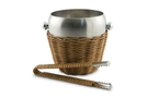 Buy Rattan & Stainless Steel Ice Bucket with Tongs