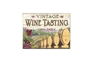 Cutting Board - Glass - Vintage Wine Tasting