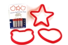 Silicone Egg/Pancake Rings  (Star, Hearth and Face) - 3/pack