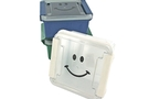 Buy GS Container with Happy Face Clip on Lid - 5 x 5 inch