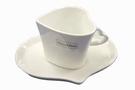 Mini Cup & Saucer Set (Porcelain, Heart) - 7cm