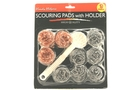 Scouring Pads with Holder (9pcs/Pack)