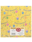 Gift Wrap 2 sheets (Happy Birthday) - 20 inch x 2.5 ft [ 6 units]