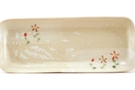 Buy Square Ceramic Condiment Plate (Hanasaku Design) - 22x9cm