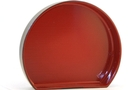 Buy Sushi Plate Half Moon Shape (Black/Red) - W20.5 * L17.4 * H3.8 cm