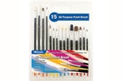 Assorted Size Paint Brush Set (15/Pack)