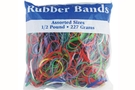 Buy Bazic Assorted Dimensions 227g/ 0.5 lbs. Rubber Bands