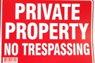 Buy Private Property No Trespassing Sign (12 inch X 16 inch)