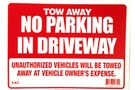 Buy Bazic 12 inch X 16 inch Tow Away Sign