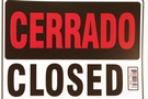 Buy Bazic Abierto Sign with Cerrado Sign on Back (12 inch X 16 inch)
