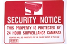 Buy Security Notice Sign (12 inch X 16 inch)