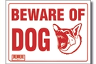 Buy Beware of Dog Sign - 9 inch X 12 inch