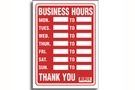 Buy Business Hours Sign (9 inch X 12 inch)
