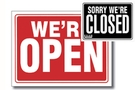 Buy Open Sign with Closed Sign on Back (9 inch X 12 inch)