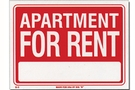 Buy Bazic Apartment For Rent Sign (9 inch X 12 inch)
