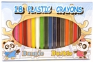 Buy GS Plastic Crayons (18 pcs)