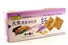Oat Digestive Cracker (Onion & Black Sesame) - 8.46oz [6 units]