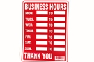 Buy Business Hours Sign (12 inch X 16 inch)
