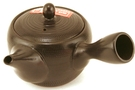 Buy Japanese Style Ceramic Tea Pot with vertical handle (Black) - 50 mm