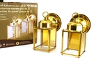 Buy Outdoor Wall Lanterns 9 inch (Polished Brass Finish) - Set of 2