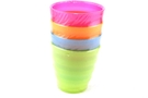 Buy GS Plastic Cups Assorted Color - 4 packs