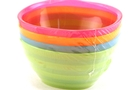 Plastic Bowls 8oz (Assorted Colors)  - 4/pk