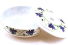 Buy Melamine Bowl with Lid (Blue Flower Motives)