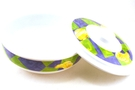 Buy GS Melamine Bowl with Lid (Purple, Green, and Yellow Motive)