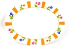 Buy Melamine Oval Plate (Colorful Flower Motives)