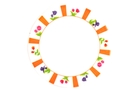 Buy Melamine Dinner Plate (Colorful Flowers Motives)