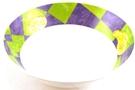 Melamine Bowl (Purple, Green, and Yellow Motives)