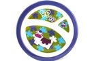 Buy Melamine Plate for Kids with 3 Sections (Blue Cow)