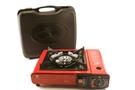 Portable Gas Stove - Type BDZ-155A (Red with Carrying Case)