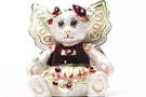 Buy Flower Bear Pansy Jeweled Box #3617