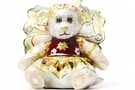 Buy Flower Bear Pansy Jeweled Box #3622