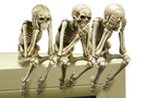 Buy 3 Skeleton Computer Toppers See Speak Hear No Evil