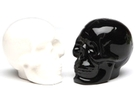 Buy Pacific Black & White Ceramic Skull Salt & Pepper Shakers