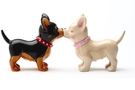 Buy Magnetic Salt and Pepper Shaker Set (Pucker Up Pups) - 4 inch