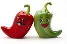 Buy Attractive Magnetic Salt and Pepper Shaker Set (Hot Chili Peppers) - 4 inch