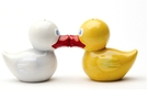 Magnetic Salt and Pepper Shaker Set (Oh Just Duckie) - 4 inch