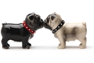Buy Magnetic Salt and Pepper Shaker Set (Little Love Pugs) - 2 3/4 inch