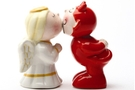 Buy Magnetic Salt and Pepper Shaker Set (Devil Angel) - 4 inch