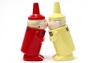 Buy Magnetic Salt and Pepper Shaker Set (Ketchup and Mustard) - 4 inch
