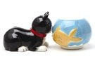 Buy Magnetic Salt and Pepper Shaker Set (Cat and Fish) - 4 inch