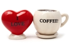 Buy Magnetic Salt and Pepper Shaker Set (I Love Coffee) - 4 inch