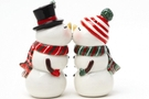 Buy Magnetic Salt and Pepper Shaker Set (Snowman and Snowwoman) - 4 inch