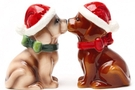 Buy Magnetic Salt and Pepper Shaker Set (Holiday Pups) - 4 inch